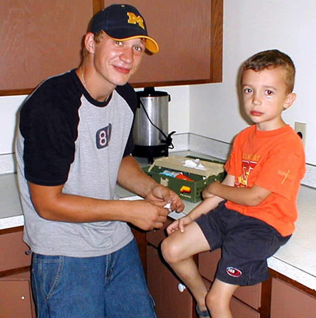 Michael Bell with his son Carson